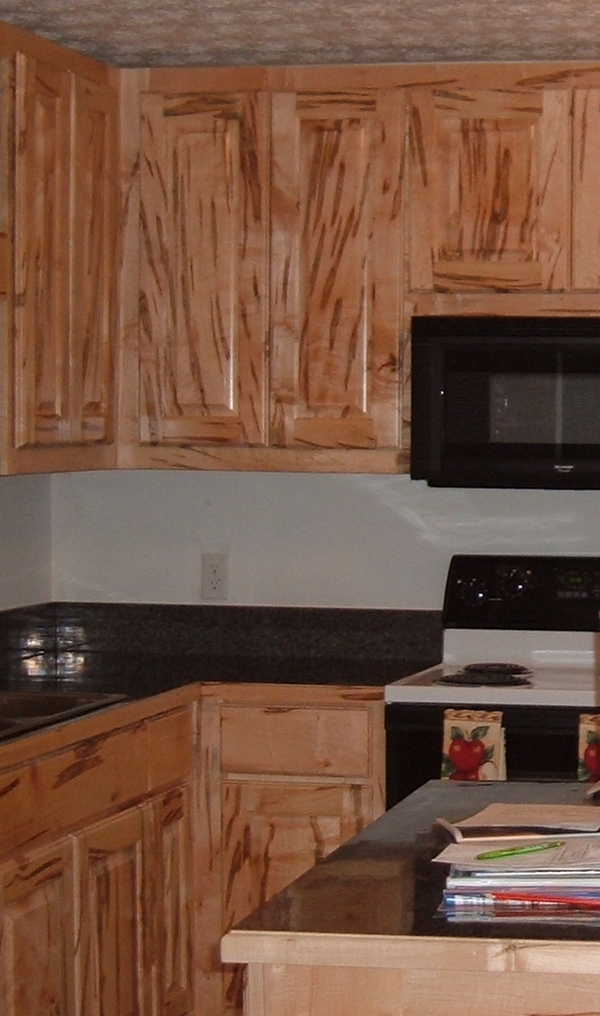Custom Kitchen Cabinets - Wormy Maple